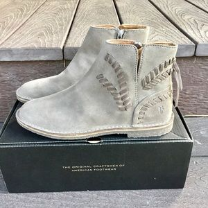 NEW Frye suede whip stitch boot